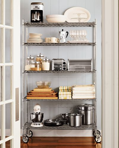 Reader Question: Softening An Industrial Shelving Unit