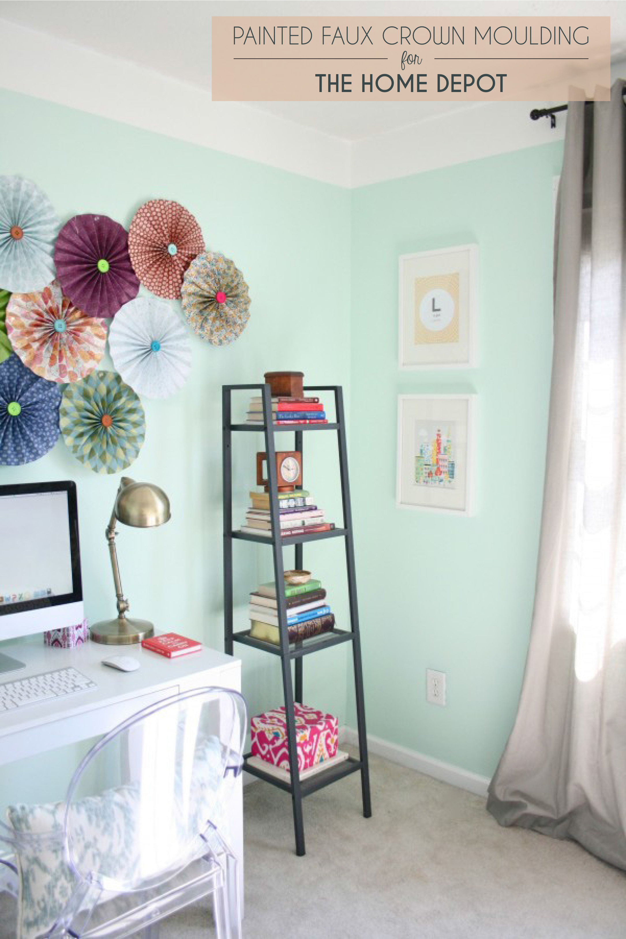 The Home Depot Guest Post Painted Faux Crown Moulding Dream