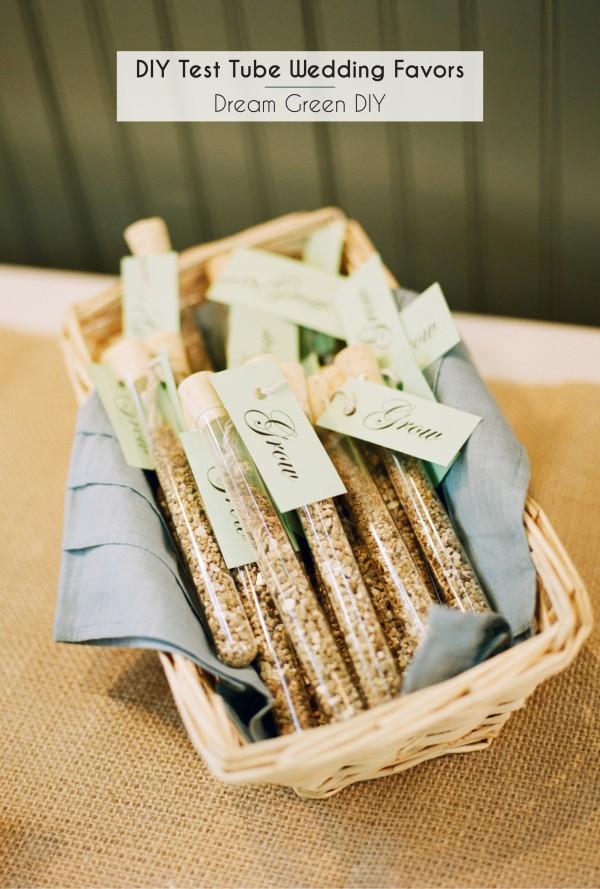 Wedding Gift Quiz : DIY Test Tube Wedding FavorsDream Green DIY