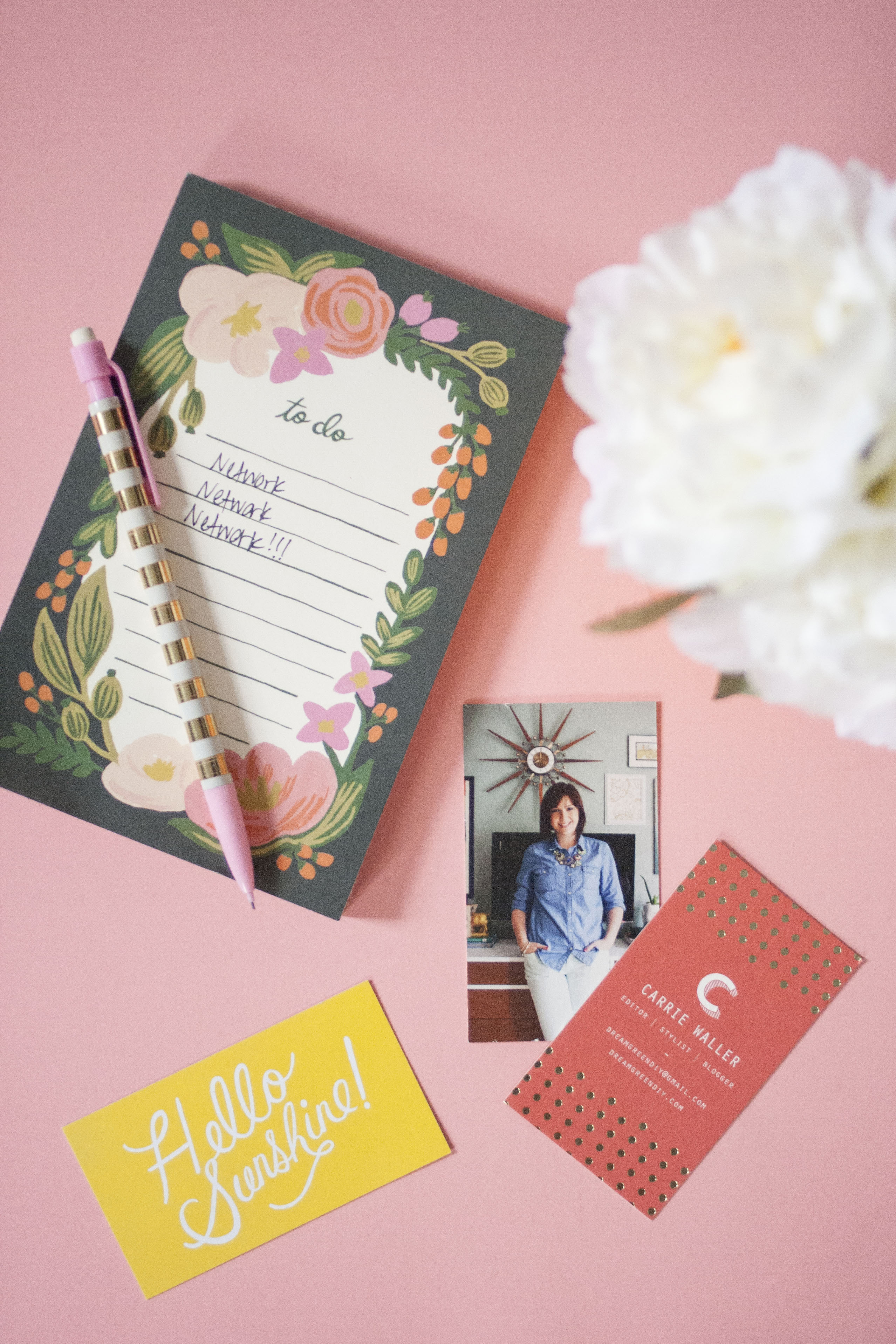 My Minted Business Cards Dream Green DIY
