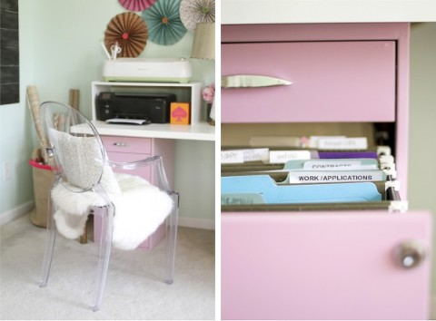Pink Filing Cabinet 35