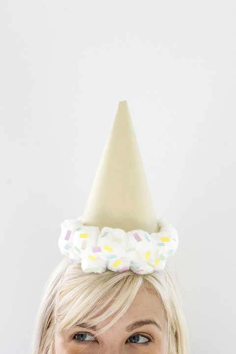 DIY Upside Down Ice Cream Cone Party Hat | Dream Green DIY + @ehow