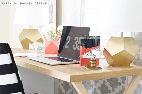 DIY Geometric Pencil Cup | Sarah M. Dorsey Designs + Dream Green DIY