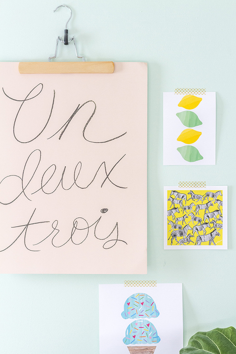 DIY Palm Print Pillows + Free Download | Dream Green DIY