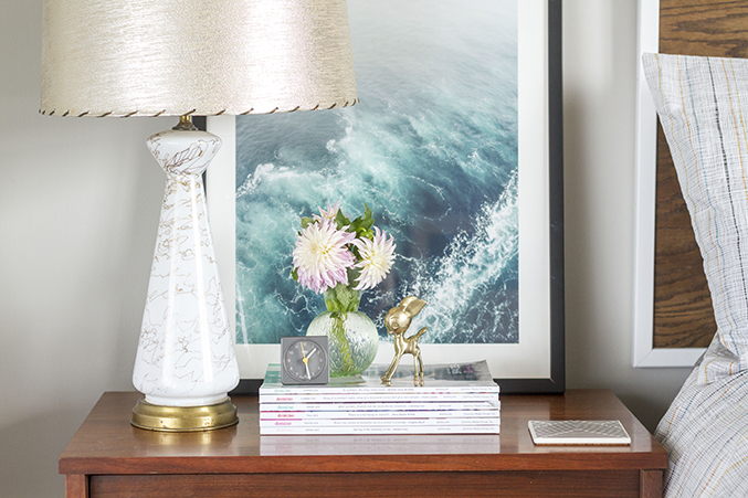 how to decorate a nightstand in 10 minutes