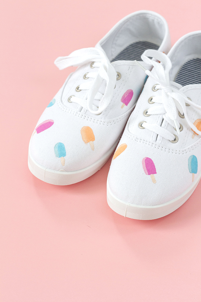 diy painted popsicle canvas shoes dreamgreendiy