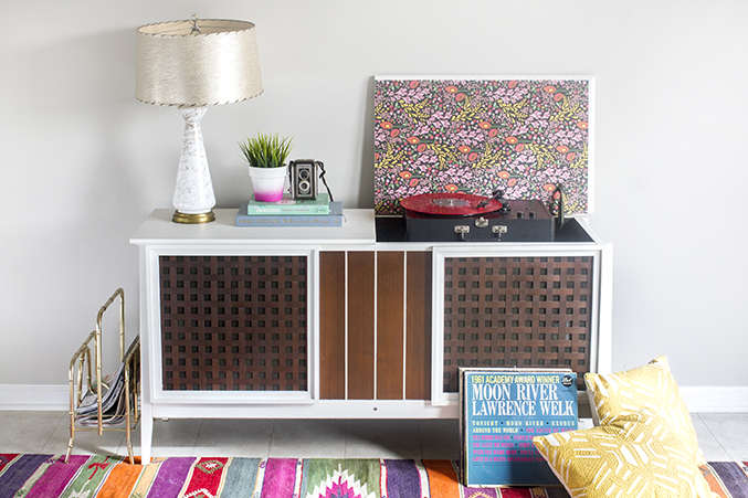 ... To Give A Retro Record Cabinet New Life With Paint » Dream Green DIY