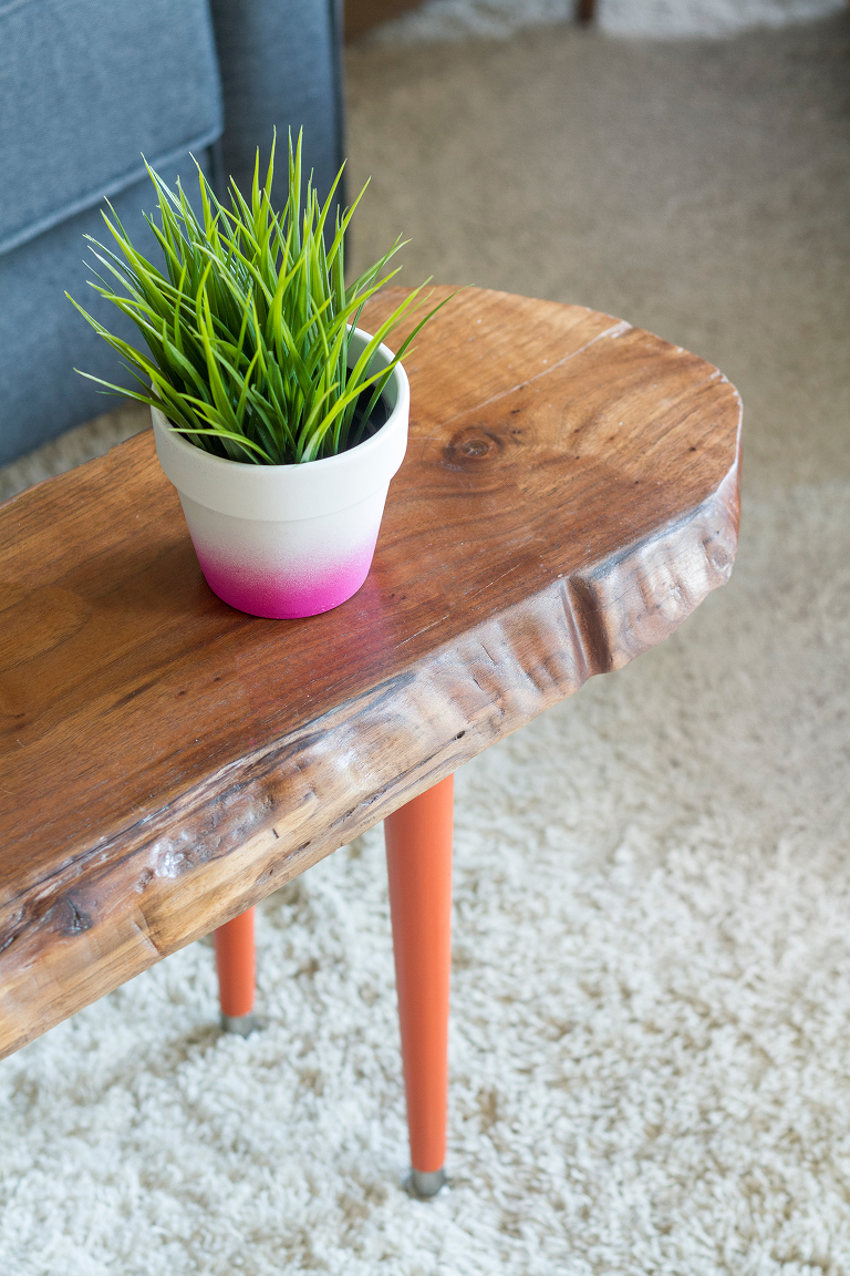 how to make a diy live edge wood bench or coffee table