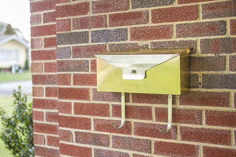 midcentury wallmounted mailbox makeover dream green diy
