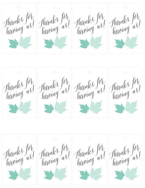 thank you printable tags