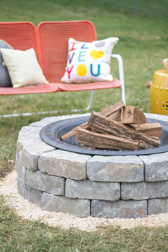 how to make a diy built in flagstone pit green diy