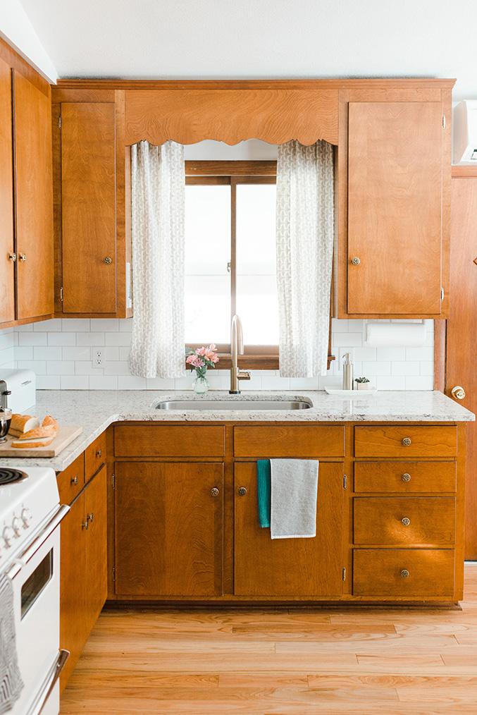 Our budget friendly mid century kitchen makeover dream - Mid century kitchen cabinets ...