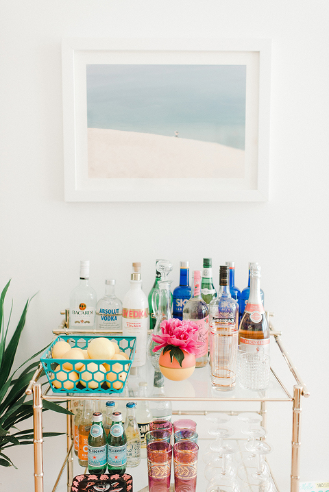 Mid-century Bar Cart | dreamgreendiy.com