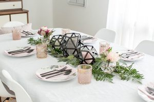 A Black, Blush & Gold Fall Dinner Party | dreamgreendiy.com + @hewlettpackard