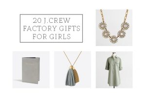 20 J.Crew Factory Gifts For Girls This Christmas | dreamgreendiy.com
