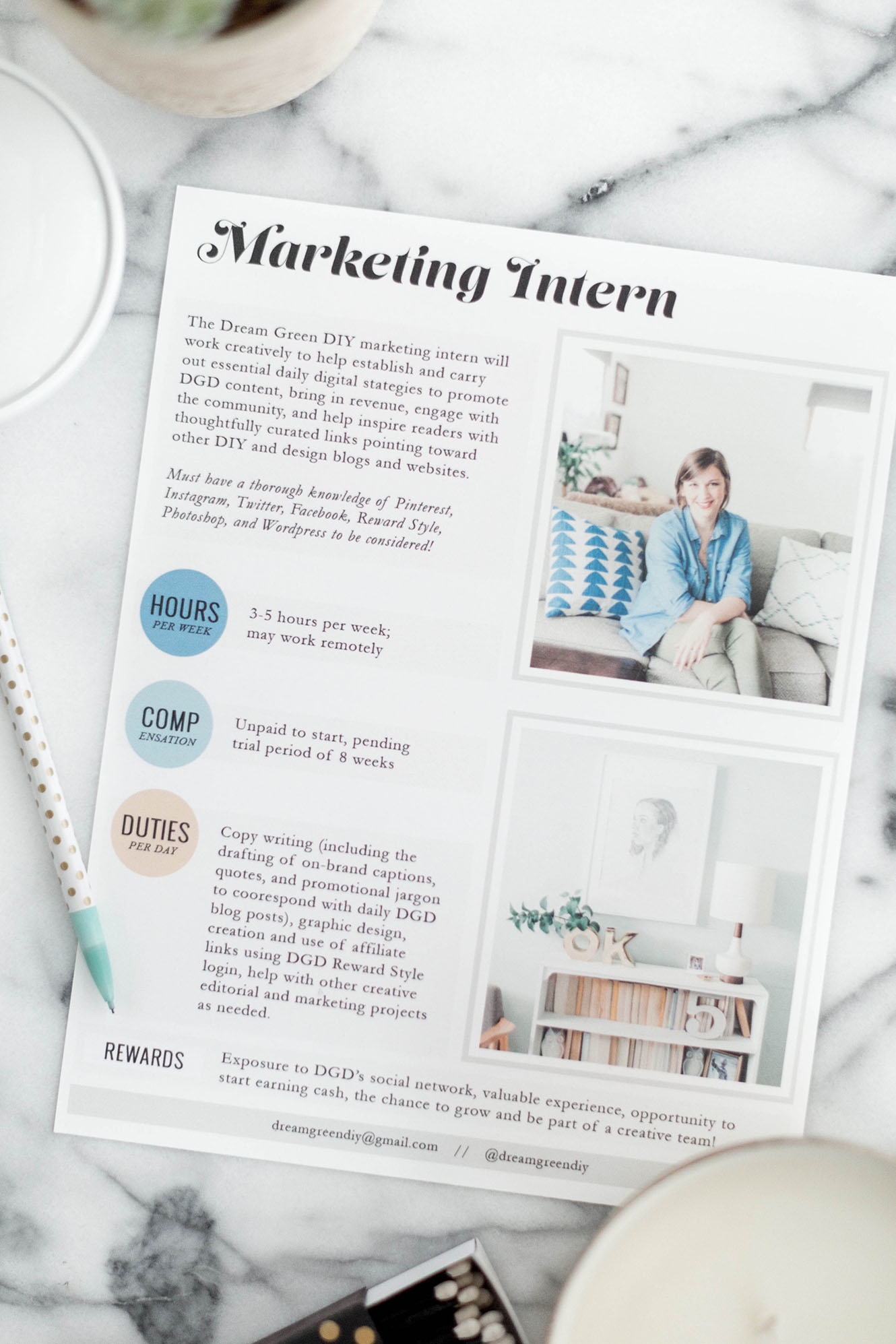 Dream Green DIY Is Looking For A Marketing Intern!