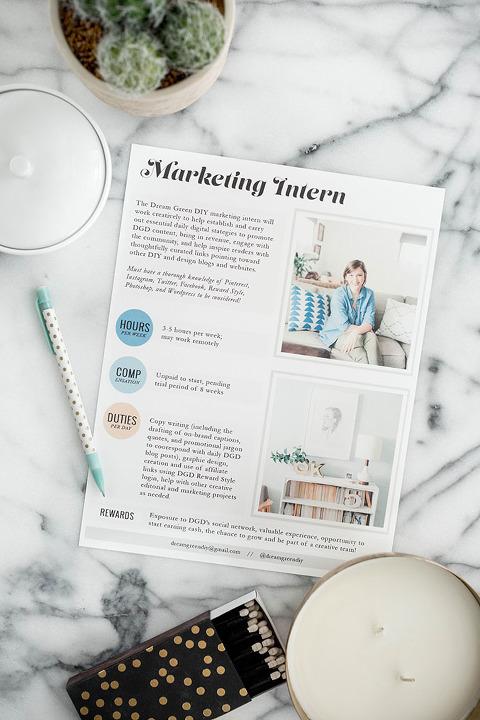 Dream Green DIY Is Looking For A Marketing Intern!