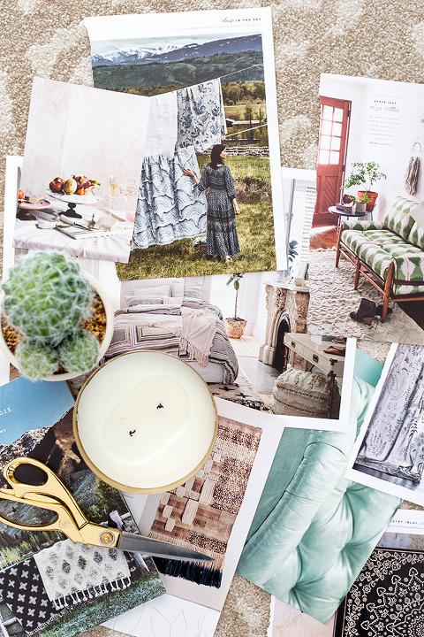 How To Make A Free DIY Catalog Mood Board | dreamgreendiy.com