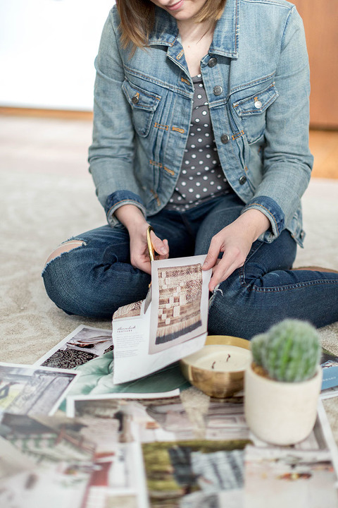 How To Make A Free DIY Catalog Mood Board | dreamgreendiy.com