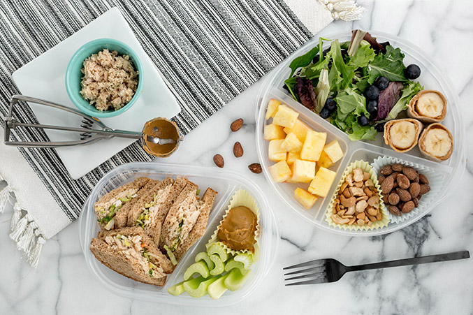 two versions of a mid week bento box lunch dream green diy. Black Bedroom Furniture Sets. Home Design Ideas