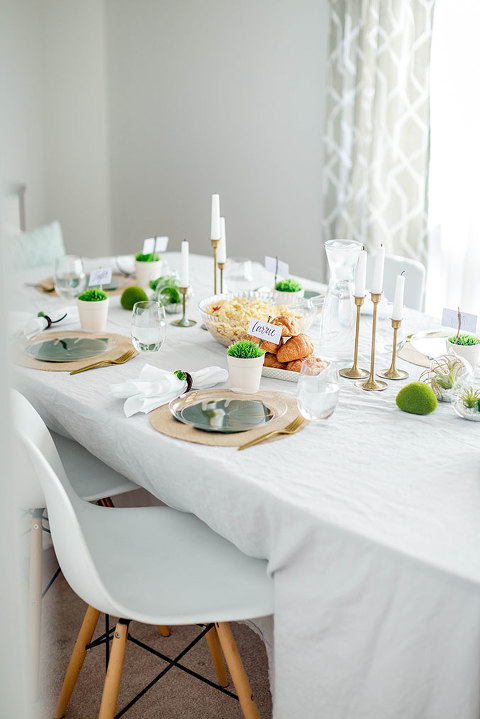How To Style A Green Pantone-Inspired Luncheon | dreamgreendiy.com + @orientaltrading
