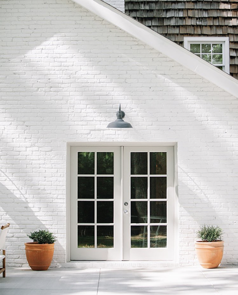 Motivation To Paint Your Brick Sunroom White