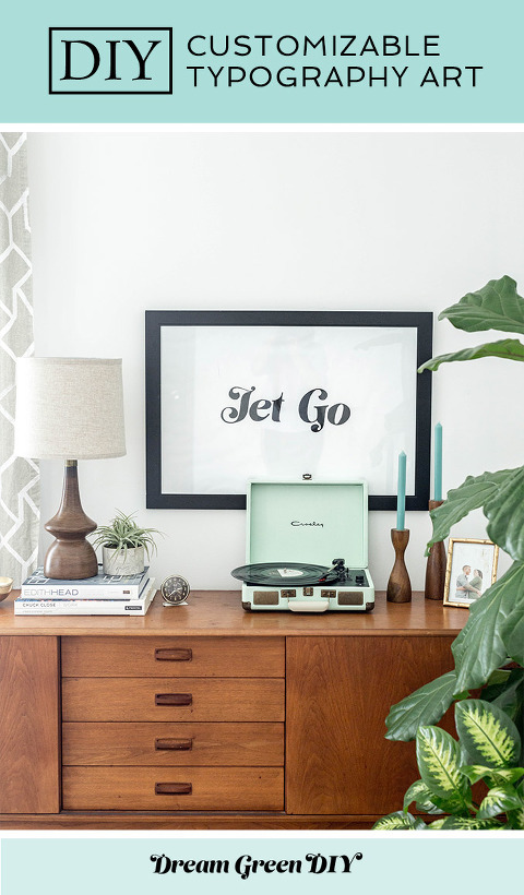 How To Make A Giant DIY Typography Art Print | dreamgreendiy.com + @orientaltrading