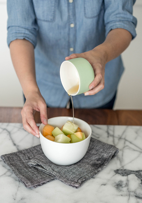 5-Minute Fruit Salad Honey Drizzle