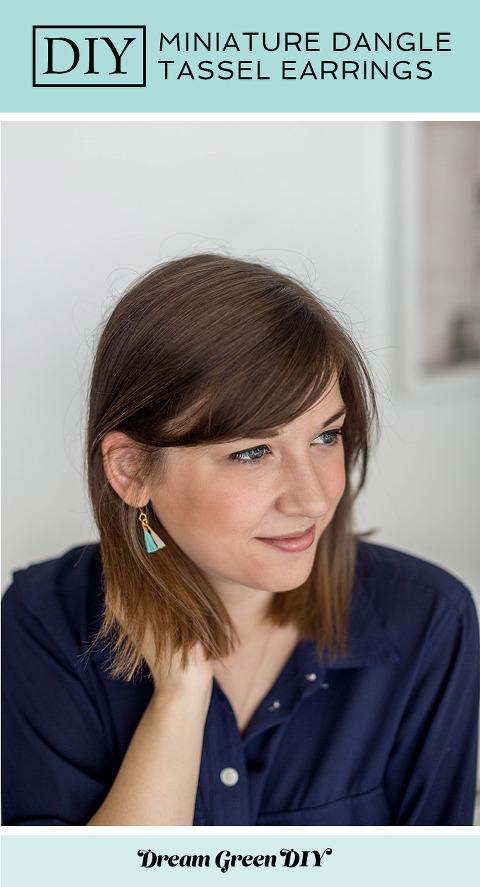 DIY Mini Dangle Tassel Earrings | dreamgreendiy.com + @orientaltrading