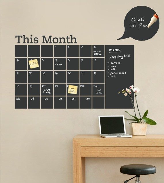 Home Design Ideas Blackboard: DIY Chalkboard Calendar