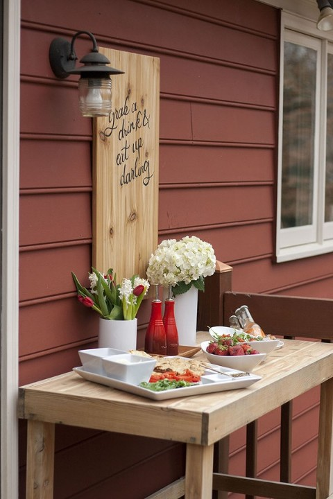 Diy calligraphy patio sign a free printable dream Better homes and gardens episode last night