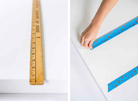 DIY Modern Triangles Artwork | Dream Green DIY + @DecoArt