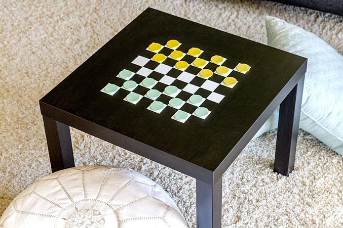 Diy Painted Checkerboard Game Table Dream Green Diy