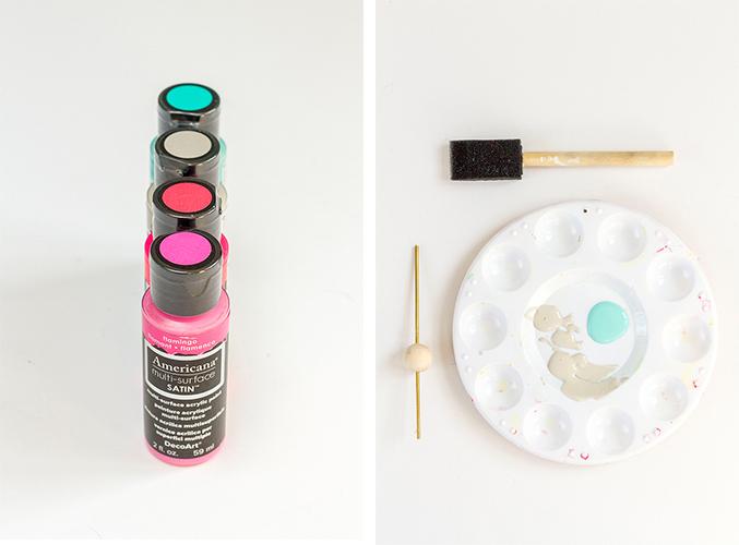 DIY Painted Bead Necklace | Dream Green DIY + DecoArt