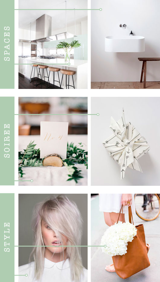 Spaces + Soirée + Style: Bright White | Dream Green DIY
