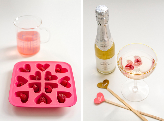 DIY Valentine's Day Raspberry Heart Wine Cubes | Dream Green DIY