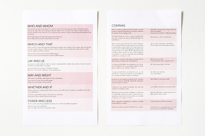 Printable Copy Editing Style Guide | Dream Green DIY