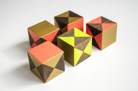 DIY Painted Children's Blocks | Dream Green DIY