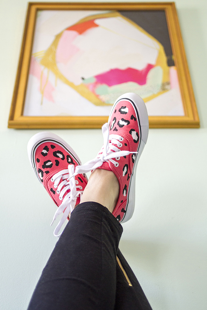 DIY Painted Leopard Print Shoes | Dream Green DIY