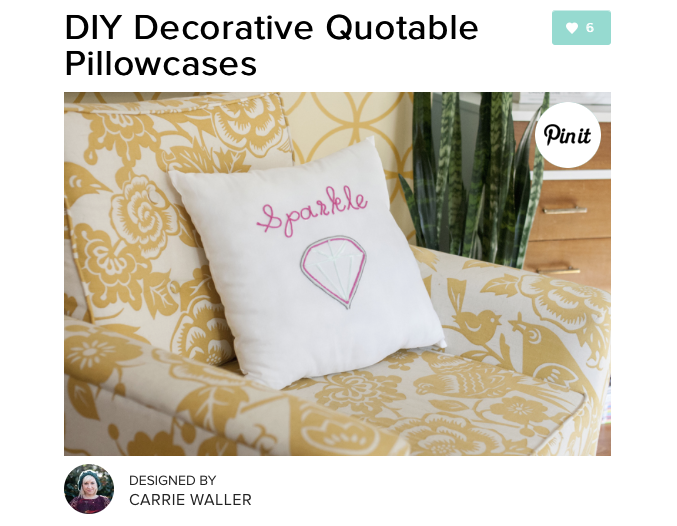 DIY Decorative Quotable Pillowcases | Dream Green DIY + Darby Smart