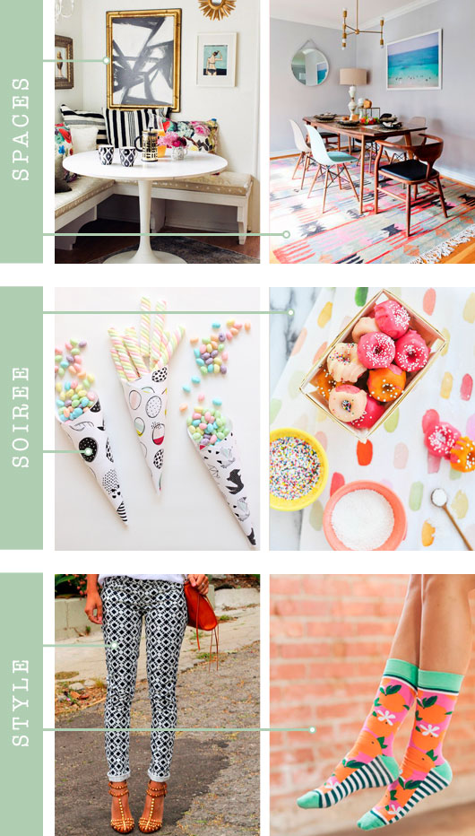 Spaces + Soirée + Style: Pattern | Dream Green DIY