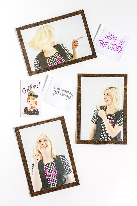 DIY Photo Message Magnets | Dream Green DIY + @snapboxprints