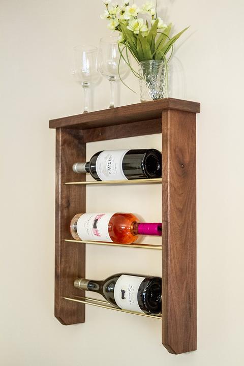 DIY Wood And Brass Wine Rack | Dream Green DIY