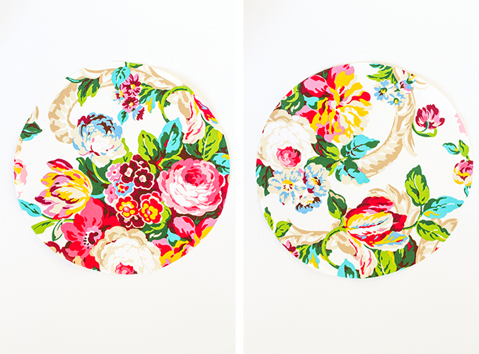 DIY No-Sew Floral Fabric Chargers | Dream Green DIY