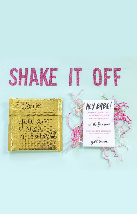 """Shake It Off"" Banner via The Bannerie   Dream Green DIY"