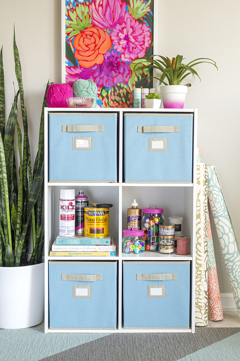How To Organize Your Craft Room | Dream Green DIY + @homedepot