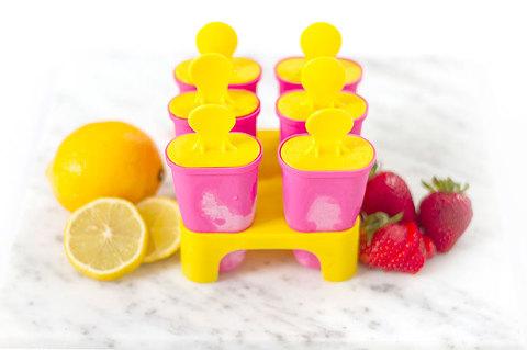 DIY Strawberry Lemonade Popsicles   Dream Green DIY