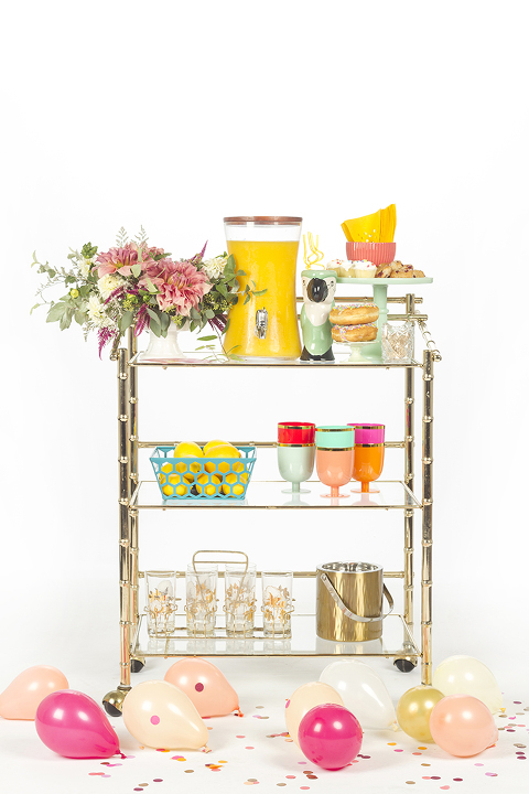 How To Style A Combo Bar Cart Buffet | Dream Green DIY