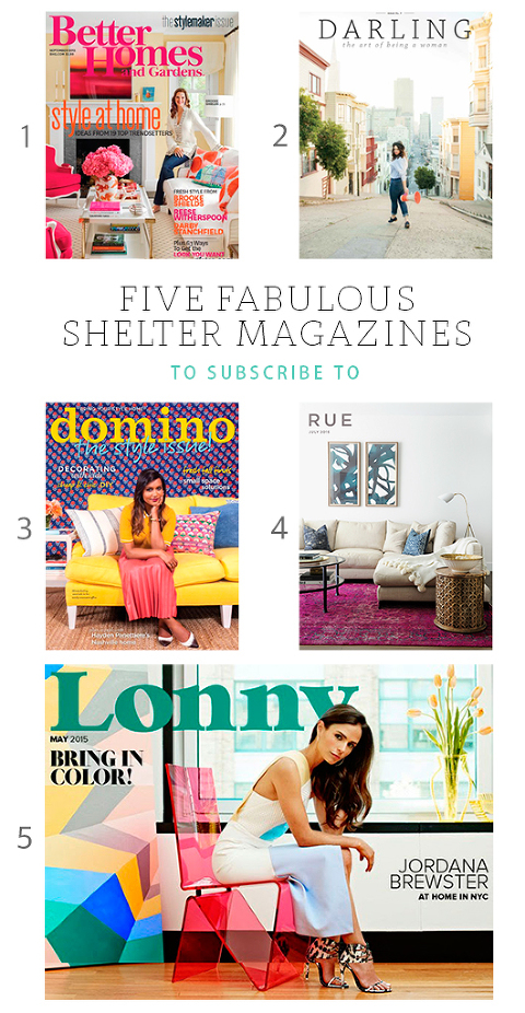 5 Shelter Magazines To Indulge In | Dream Green DIY
