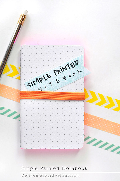 Simple DIY Painted Notebooks | Dream Green DIY + Delineate Your Dwelling